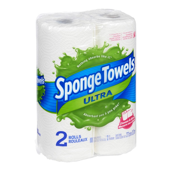 Sponge Towels Ultra Paper Towels 2 Ply 2 Rolls Whistler